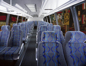 Tampa Bus Charter Interior