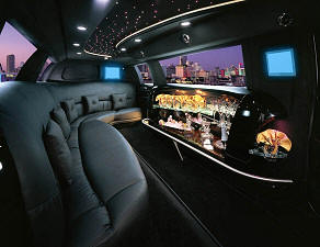 Tampa stretch limo interior